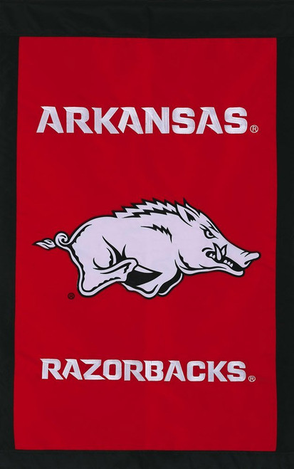 University of Arkansas Appliqued House Banner (new design)