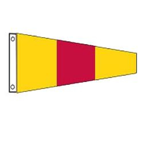 0 International Code Signal Pennant (Grommet)