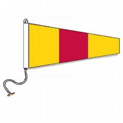 0 International Code Signal Pennant (Rope and Toggle)