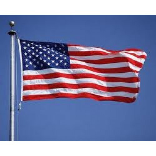 American Flag, Polyester 15x25