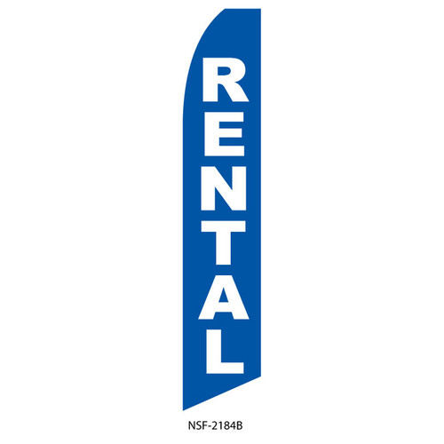 Rentals Feather Flag (blue)