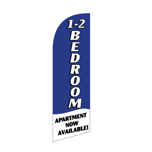 1-2 BR Apartment 6ft Feather Flag (blue)