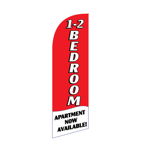 1-2 BR Apartment 6ft Feather Flag (red)