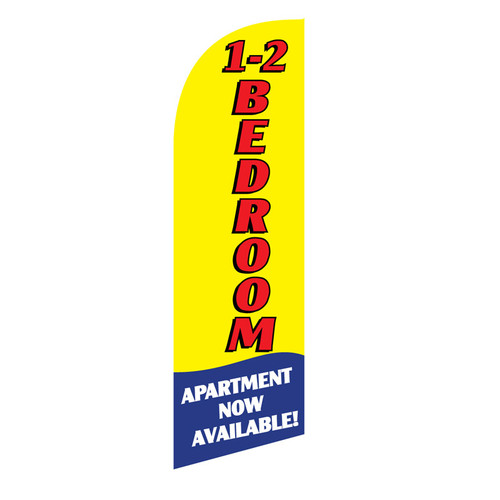 1-2 BR Apartment 6ft Feather Flag (yellow)