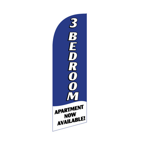 3 BR Apartment 6ft Feather Flag (blue)