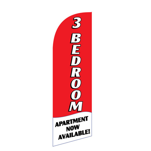 3 BR Apartment 6ft Feather Flag (red)
