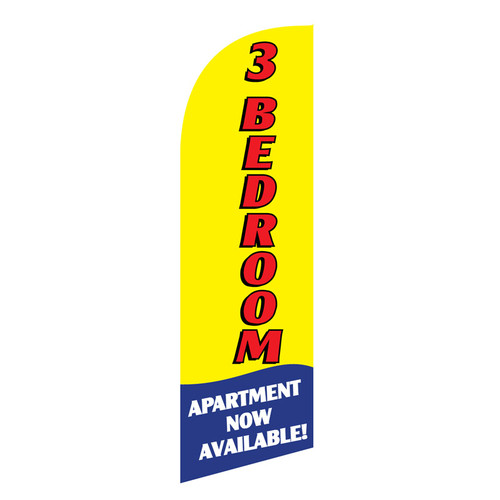 3 BR Apartment 6ft Feather Flag (yellow)