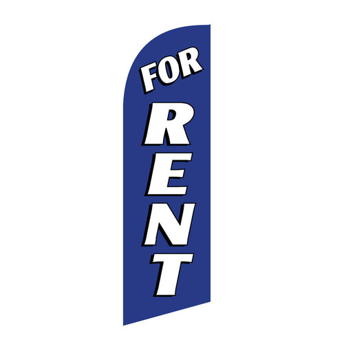 For Rent 6ft Feather Flag (blue)