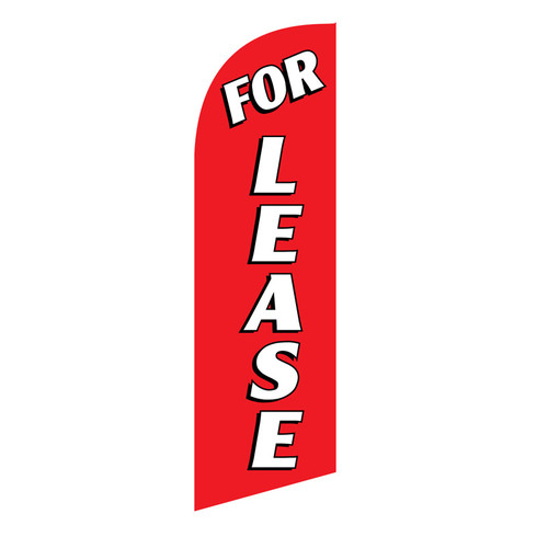 For Lease 6ft Feather Flag (red)