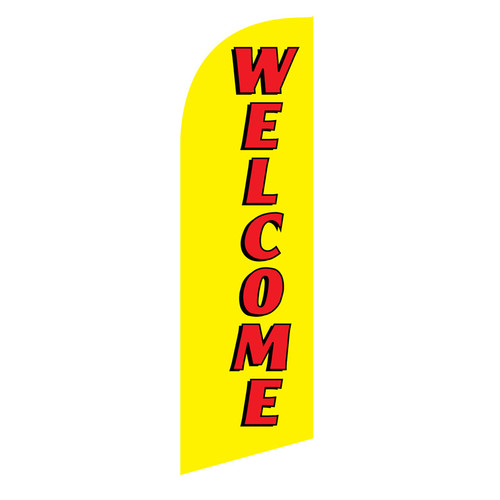 Welcome 6ft Feather Flag (yellow)