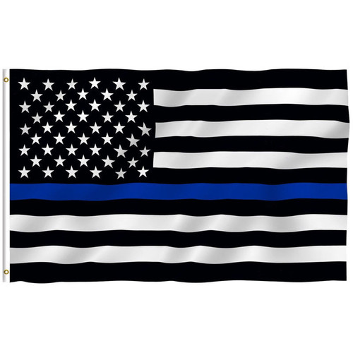 Thin Blue Line American Police 3'x5' Flag