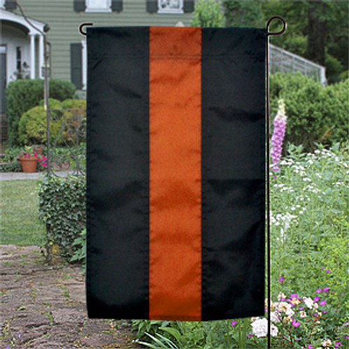 Thin Orange Line Garden Flag