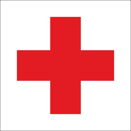 """Ambulance Motorcycle Racing Flag 30"""" x 30"""""""