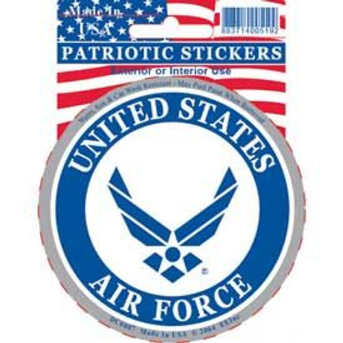 "Air Force circular decal (""wings"" logo)"