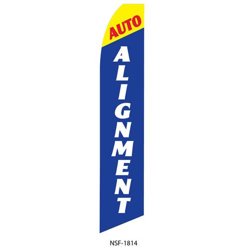 Auto Alignment Feather Flag