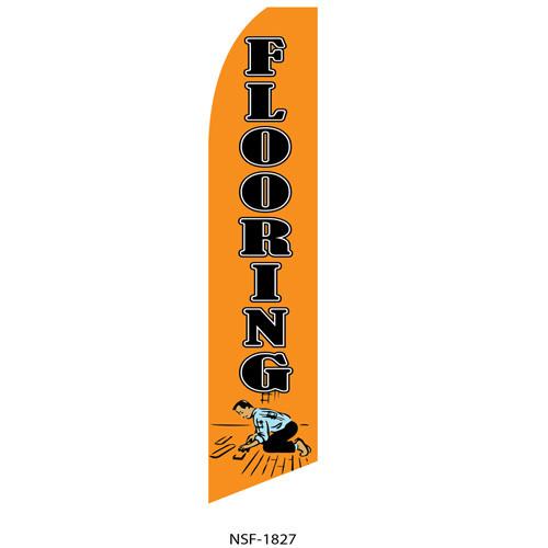 Flooring (orange background) Feather Flag