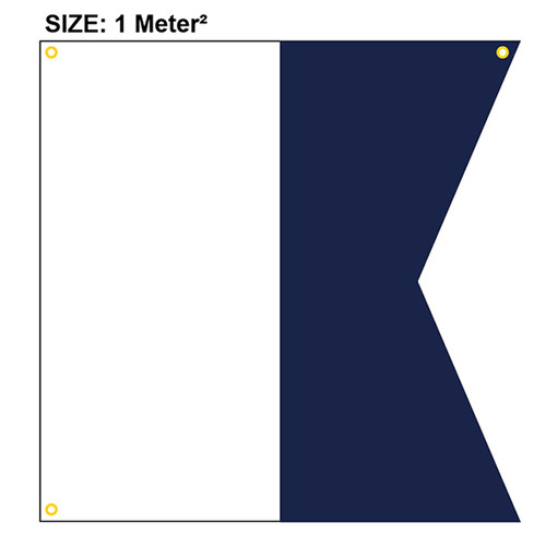 Diver Down USCG Official Size (1  meter x 1 meter)