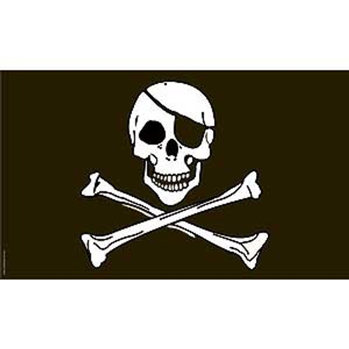 PIRATE JOLLY ROGER 3 x 5 Lightweight Flag