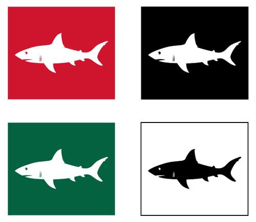 Shark Warning Flag Set