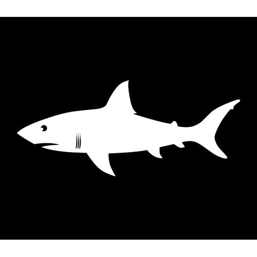 Shark Warning Flag (Black)