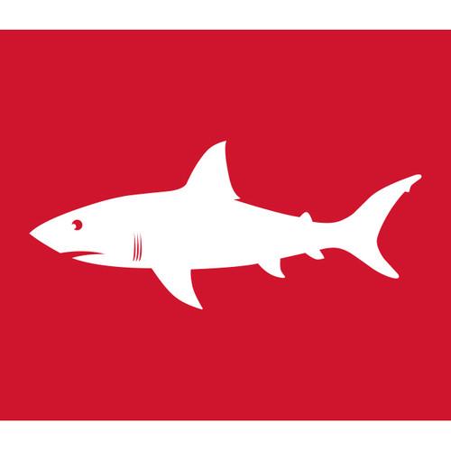 Shark Warning Flag (Red)