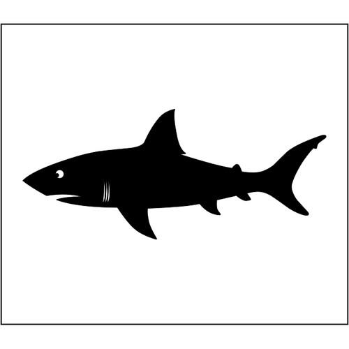 Shark Warning Flag (White)