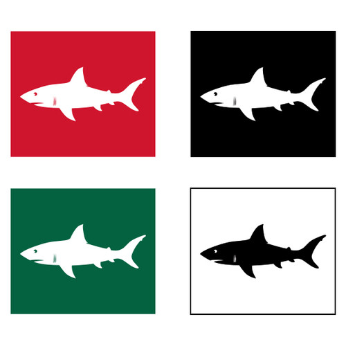 Shark Warning Flag Set