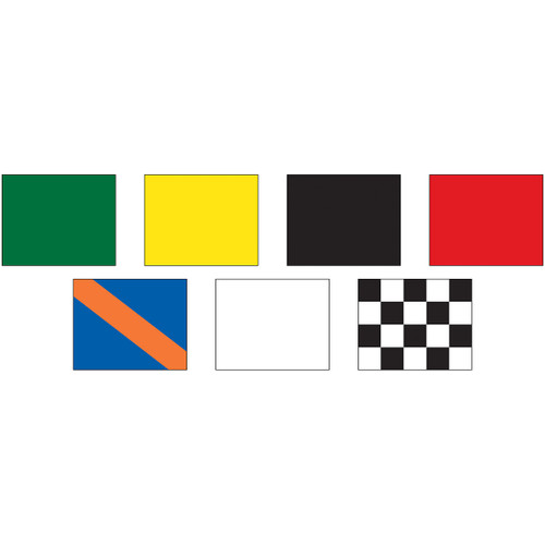"Complete Auto Racing Flag Set 24"" x 30"" - Mounted"