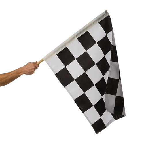 "Black & White Checkered Auto Racing Flag 24"" x 30"""