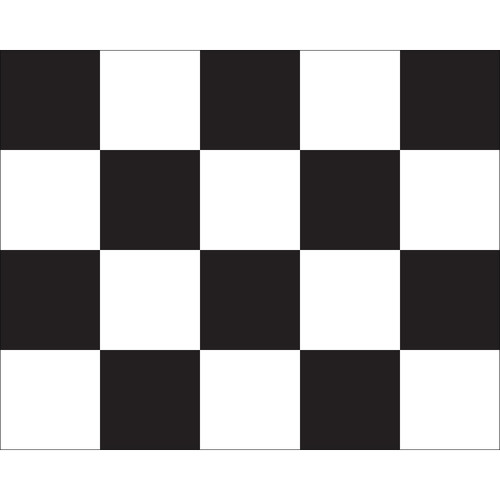 "Black & White Checkered Auto Racing Flag 24"" x 30"" - Mounted"