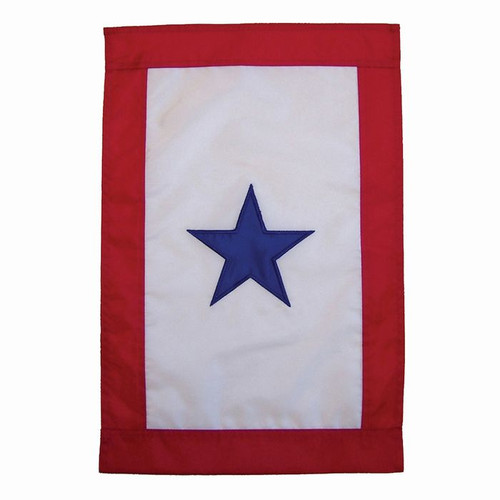 Blue Star Service Garden Flag (Sewn - One Star)
