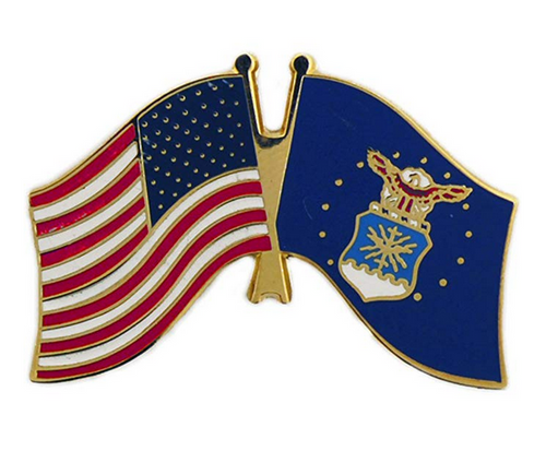 Air Force / U.S. Flag lapel pin #1