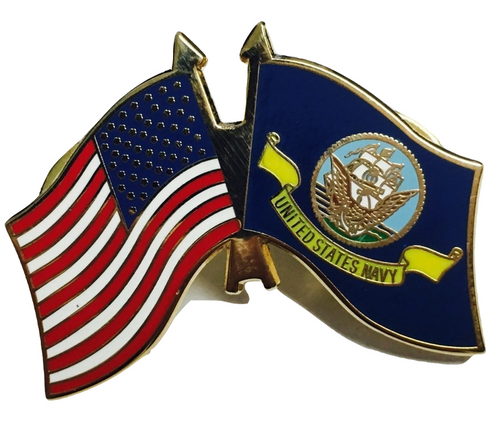 Navy / US Flag Lapel Pin #1