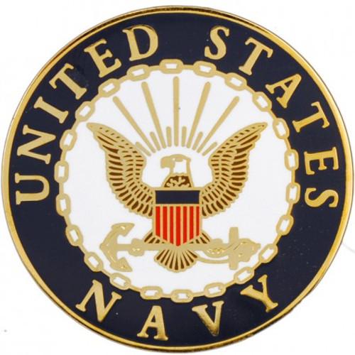 Navy Round Lapel Pin