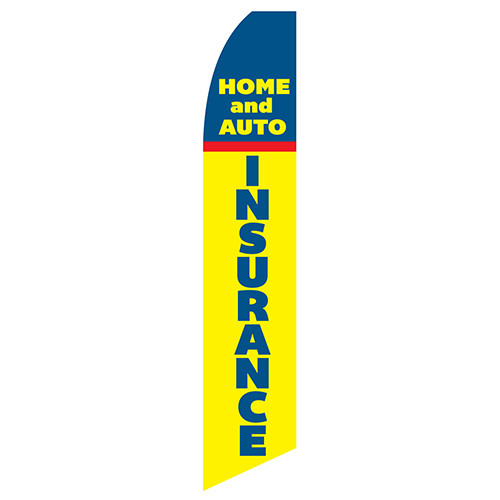 Home And Auto Insurance Feather Flag