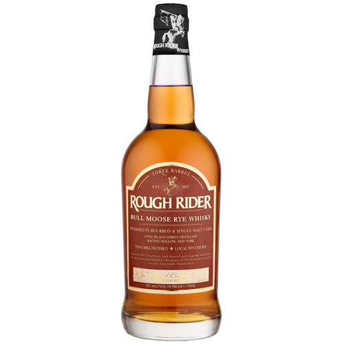 Rough Rider Bull Moose Three Barrel Rye Whisky 750ml
