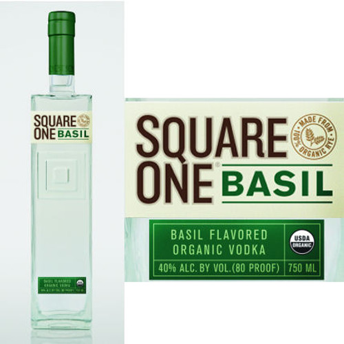 Square One Organic Basil Flavored Vodka 750ml855886001302