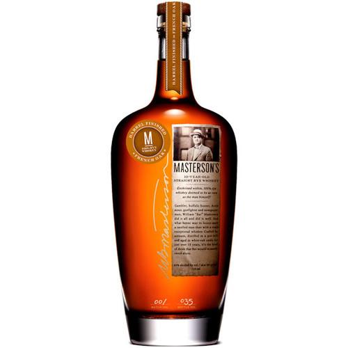 Masterson's 10 Year Old French Oak Straight Rye Whiskey 750ml