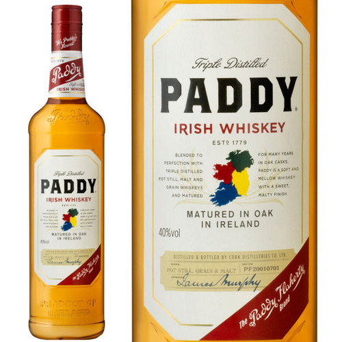 Paddy Irish Whiskey 750ml