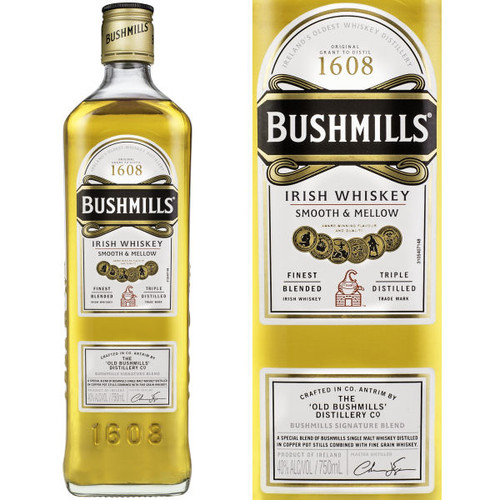 Bushmills Irish Whiskey 750ml