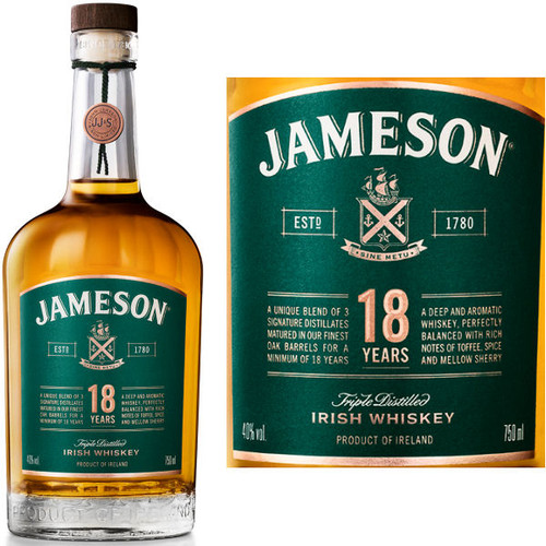 Jameson 18 Year Old Irish Whiskey