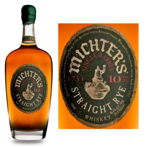 Michter's 10 Year Old Single Barrel Straight Rye Whiskey 750ml