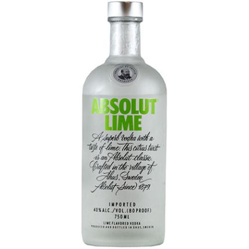 Absolut Lime Swedish Grain Vodka 750ML