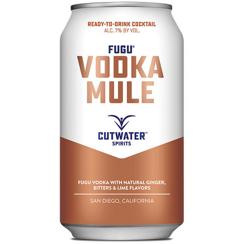 Cutwater Spirits Fugu Vodka Mule Ready-To-Drink 4-Pack 12oz Cans