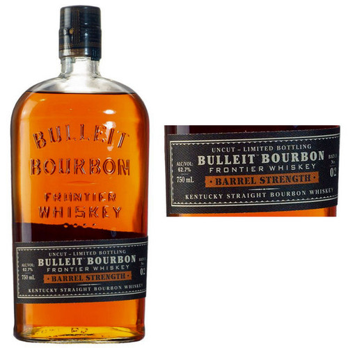 Bulleit Bourbon Barrel Strength Frontier Whiskey 750ml