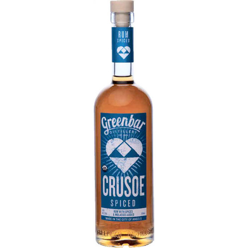 Greenbar Crusoe Spiced Organic Rum 750ml