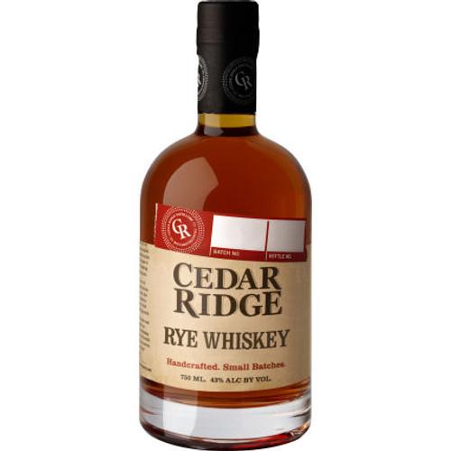 Cedar Ridge Rye Whiskey 750ml