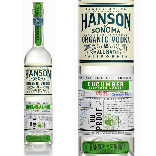 Hanson of Sonoma Cucumber Organic Vodka 750ml