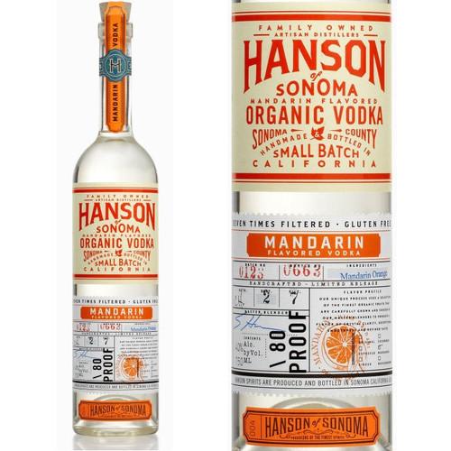 Hanson of Sonoma Mandarin Organic Vodka 750ml