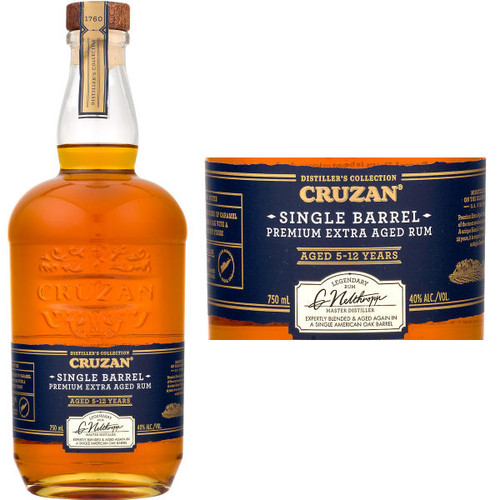 Cruzan Single Barrel Estate Rum 750ml